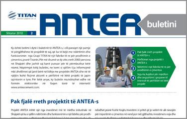 ANTEA Newsletter 2/2010